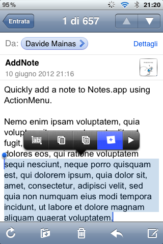 ���� AddNote for ActionMenu