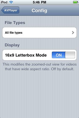 iPhone App: AVPlayer