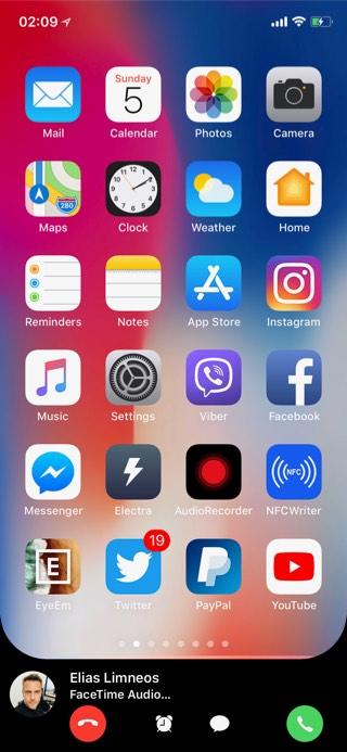 CallBar XS (iOS 12)