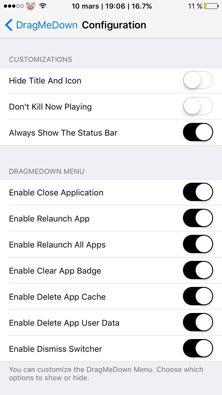 DragMeDown (iOS 10) - TheBigBoss org - iPhone software, apps, games