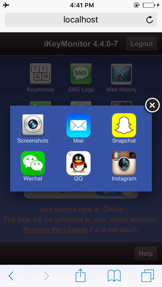 iKeyMonitor keylogger - iPad/iPhone/iPod Key logger · Cydia