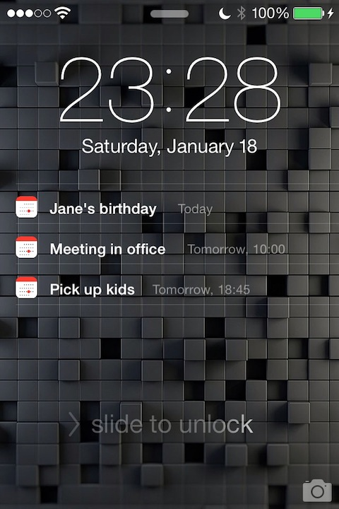 Calendar Lockscreen : Calendar for lockscreen tweaks xarold repository