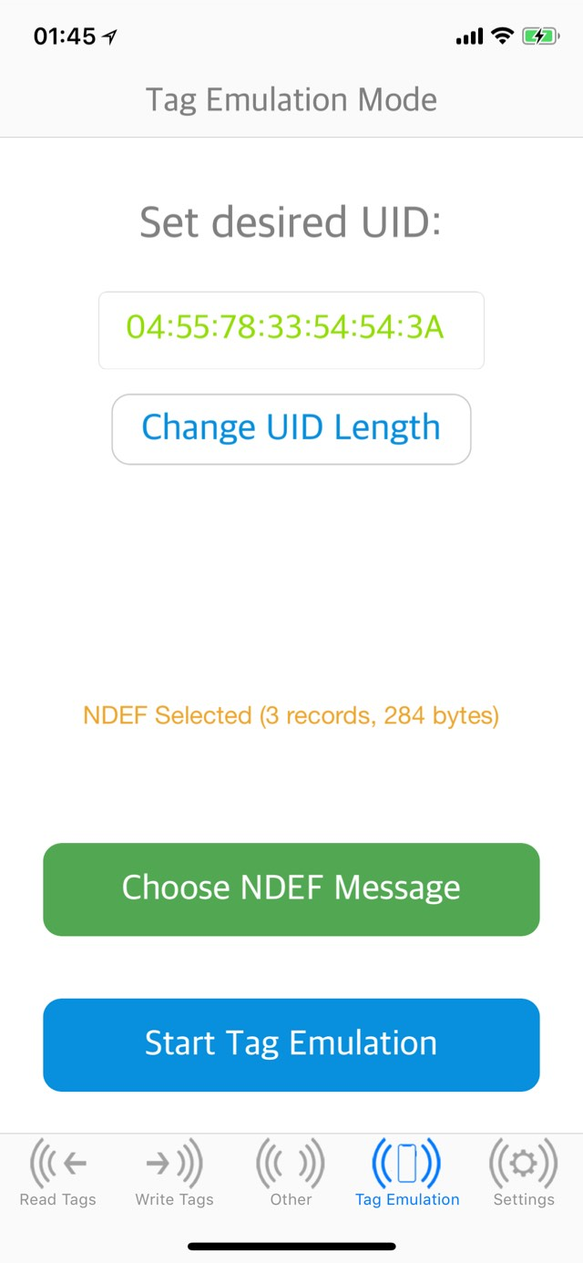 NFCWriter XS (iOS 11 & 12) · Cydia