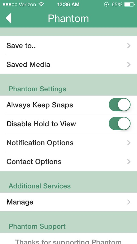 Phantom for Snapchat - TheBigBoss org - iPhone software, apps, games