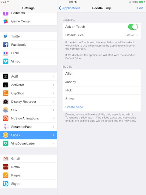 Slices · Cydia