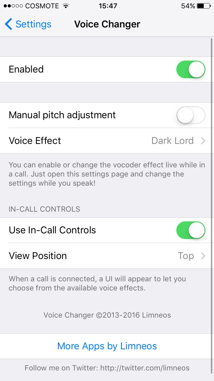 VoiceChanger Cydia app