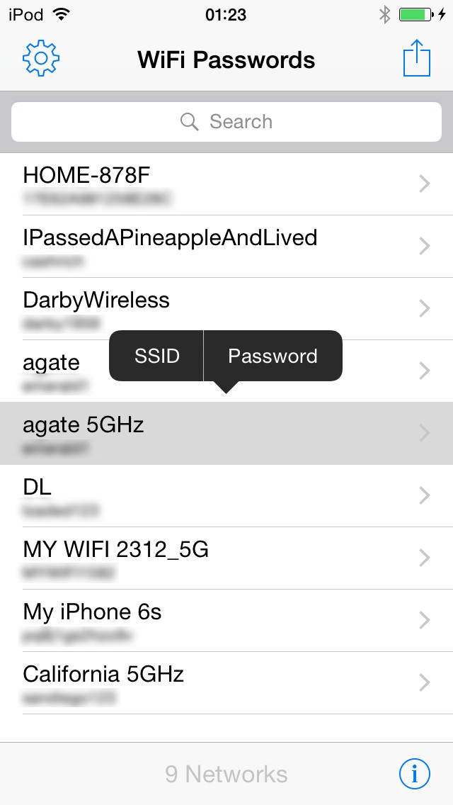 Question] Tweak to have wifi password list on settings (11 3 1