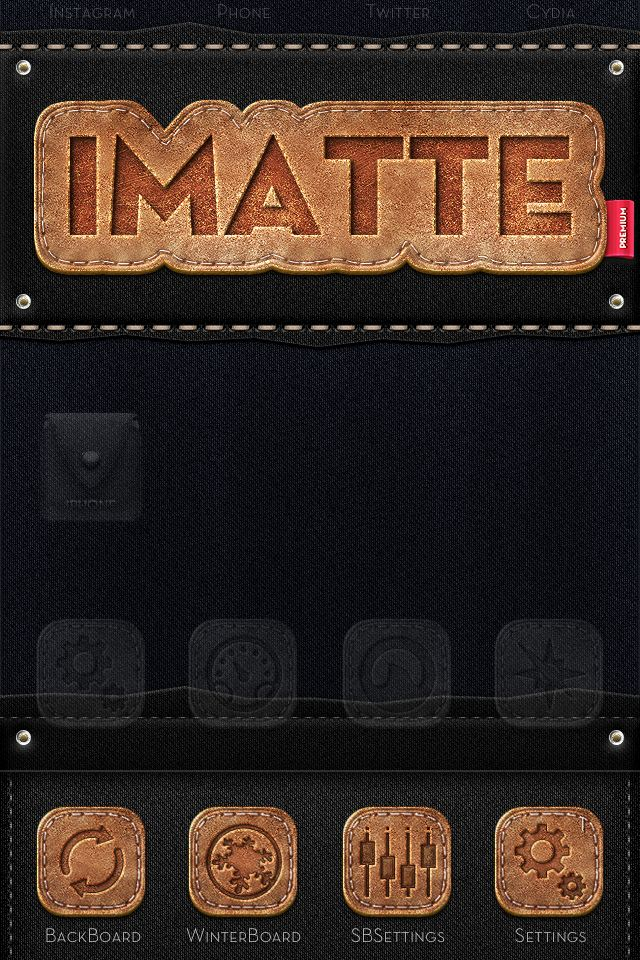 [WinterBoard]: ثيم iMatte Premium - Leather & Denim Edition