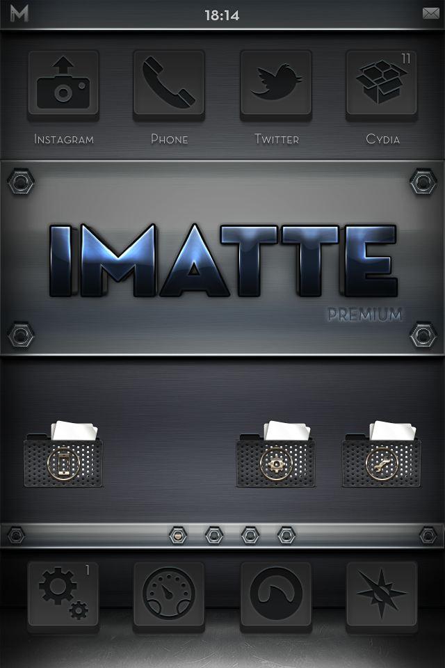 [WinterBoard]: ثيم iMatte Premium - Metal Edition
