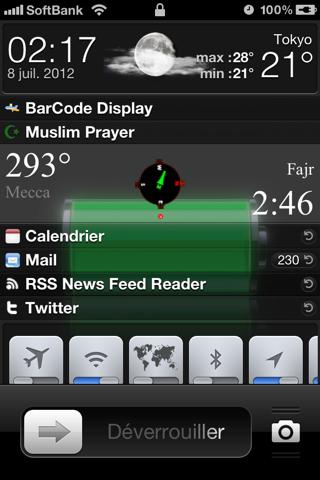 أداة Muslim Prayer LockInfo Plugin لتوقيت الصلاة